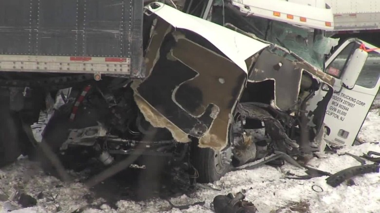 Deadly vehicle pileup on I-78 in Pennsylvania