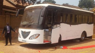 Uganda unveils Africa's first solar-powered bus