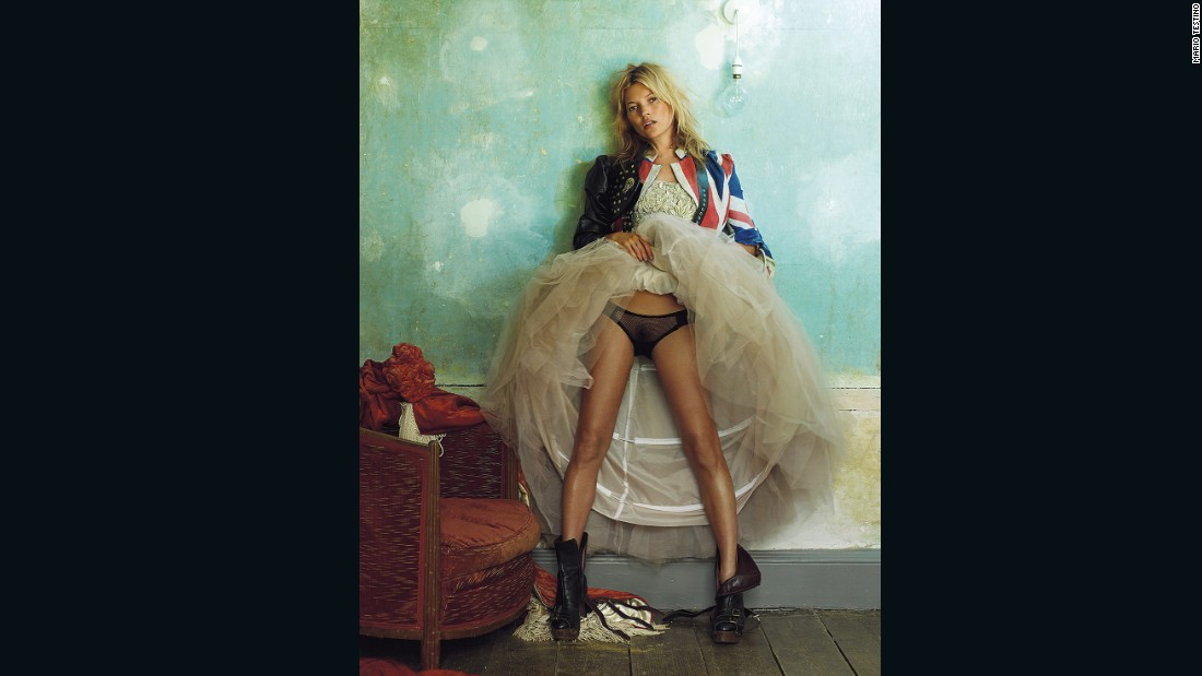 Kate Moss at the Master Shipwright's House, Deptford, by Mario Testino, 2008. Vogue 100: A Century of Style is at the National Portrait Gallery, London, from 11 February-22 May 2016, sponsored by Leon Max.