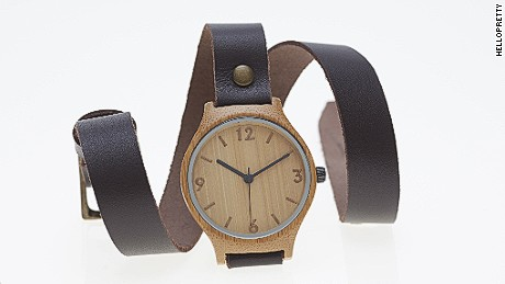 One of Hello Pretty's most popular products is from store Bamboo Watch Revolutions, one of the first companies to develop a watch face made from bamboo.