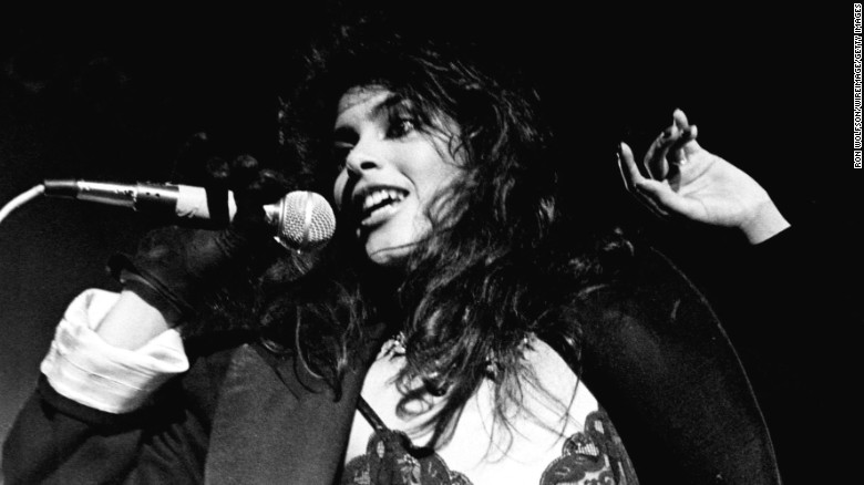 """Vanity now known as Denise Matthews performs with the group Vanity 6 on the TV Show """"Solid Gold"""". (Photo by Ron Wolfson/WireImage) *** Local Caption ***"""