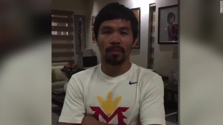 Manny Pacquiao apologizes for comparing gays to animals