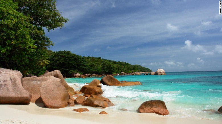 """Anse Lazio on Praslin Island in the Seychelles gets high marks from one TripAdvisor reviewer for """"clean and clear water."""""""