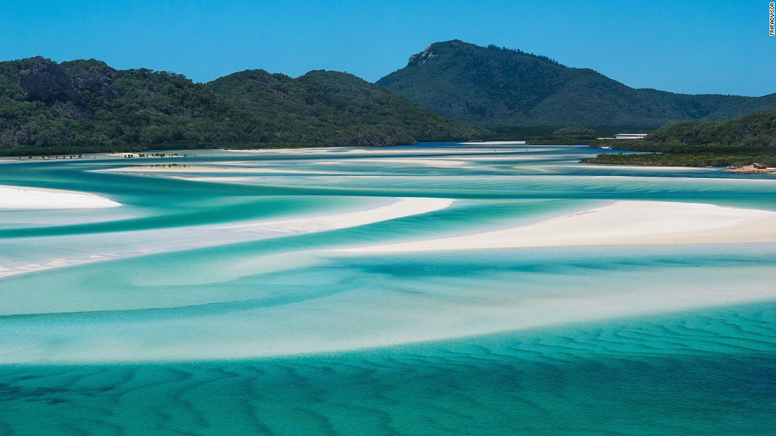 In Queensland, Australia, Whitehaven Beach is an aquatic dreamscape.