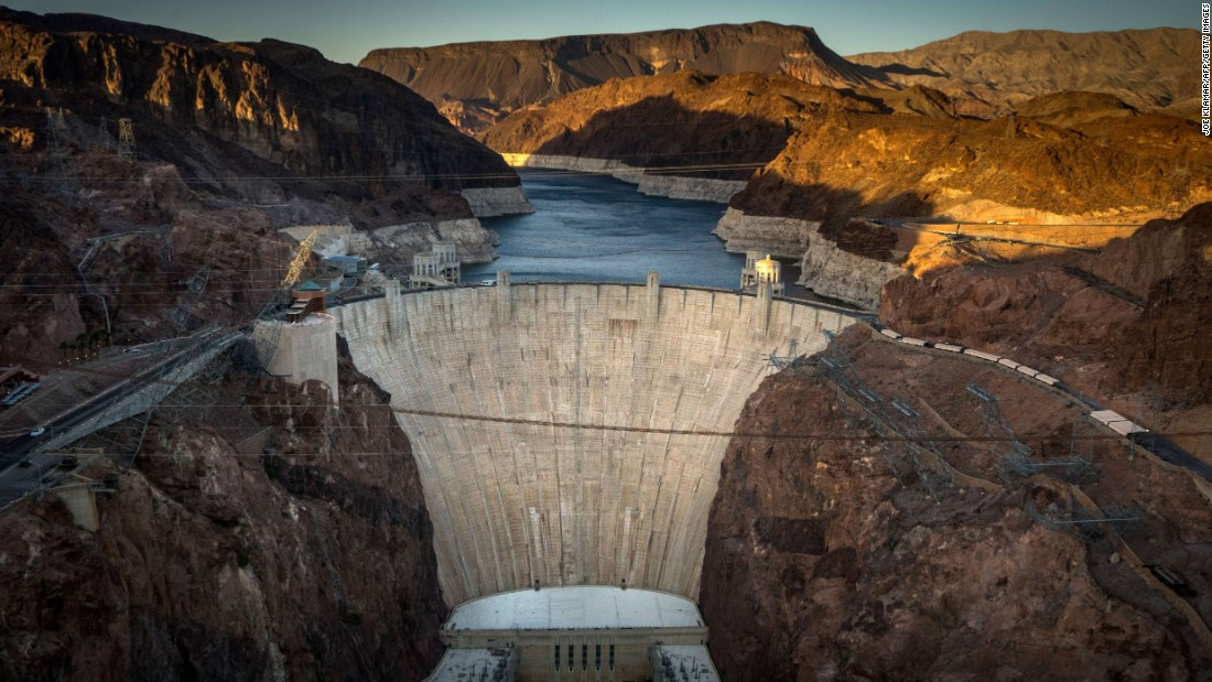 """<a href=""""http://www.nps.gov/lake/index.htm"""" target=""""_blank"""">Lake Mead National Recreation Area</a> hosted more than 7,298,000 visits last year. Hoover Dam, shown here, impounds Lake Mead."""