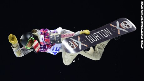 US Shaun White competes in the Men's Snowboard Halfpipe Final at the Rosa Khutor Extreme Park during the Sochi Winter Olympics on February 11, 2014.           AFP PHOTO / JAVIER SORIANO        (Photo credit should read JAVIER SORIANO/AFP/Getty Images)