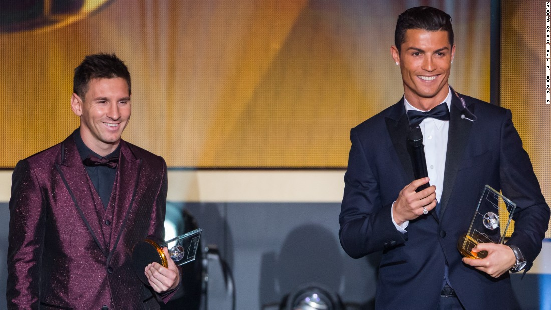 The pair have won seven World Footballer of the Year crowns between them, Messi currently ahead with four to his name. There's no suggestion of them leaving La Liga just yet, but both have hinted in the past that they would be keen to move Stateside at some point.