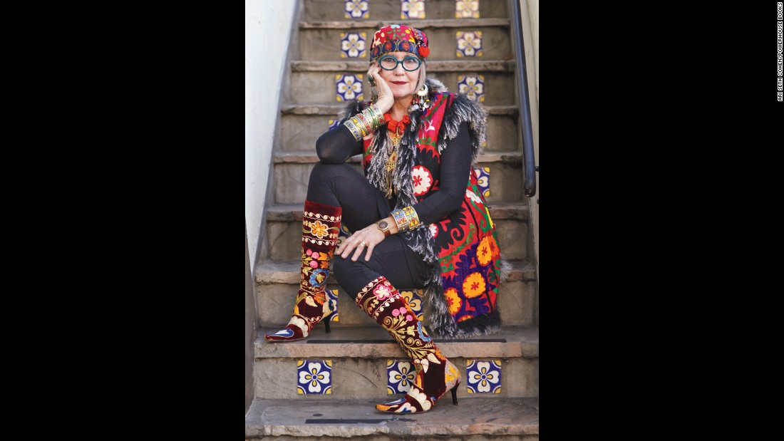 "<strong>Suzi Click, 66:</strong> ""My designs reflect my personality and my passion for ethnic embellishment. This is how I dress -- expressing the power of adornment in my own unique mix of textures, colors and patterns with bold jewelry for a luxe, bohemian vibe."""