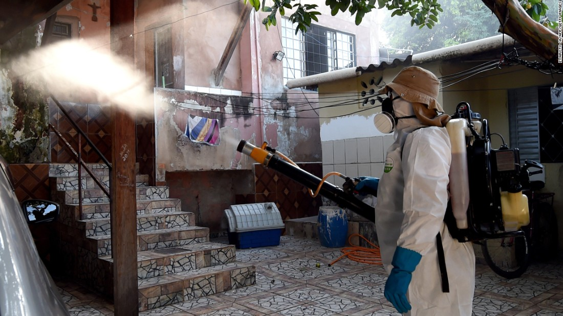"A health worker fumigates an area in Gama, Brazil, to combat the Aedes aegypti mosquito on Wednesday, February 17. The mosquito carries the <a href=""http://www.cnn.com/specials/health/zika"" target=""_blank"">Zika virus,</a> which has suspected links to birth defects in newborn children. The World Health Organization expects the Zika outbreak to spread to <a href=""http://www.cnn.com/2016/01/25/health/who-zika-virus-americas/index.html"" target=""_blank"">almost every country in the Americas.</a>"