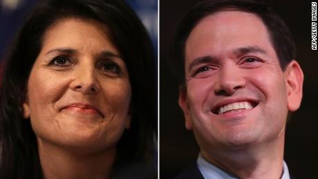 South Carolina Gov. Nikki Haley endorses Marco Rubio