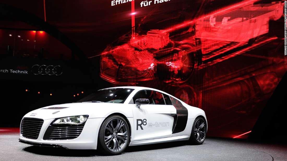 Like the Tesla S, the Audi R8 e-tron possesses both incredible speed and comfortable range. It's also self-driving, using laser scanners, video cameras and ultrasonic sensors.