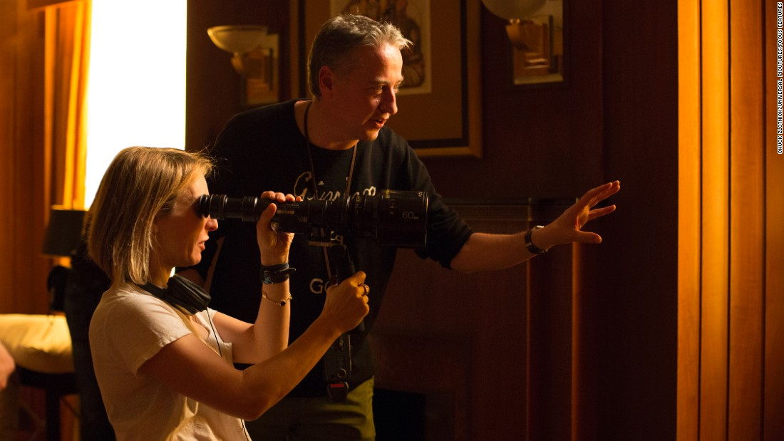 """""""Fifty Shades of Grey"""" was a huge milestone for English filmmaker and actress Sam Taylor-Johnson, left (with cinematographer Seamus McGarvey). The film version of E.L. James' book grossed $166 million in 2015. Taylor-Johnson called the experience """"intense and incredible."""""""