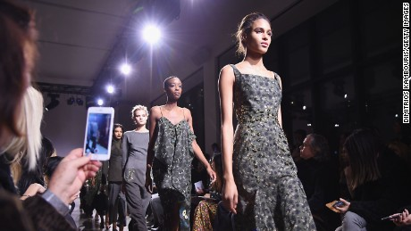 A majority of the 33 models who walked designer Zac Posen's runway show this week were black women.