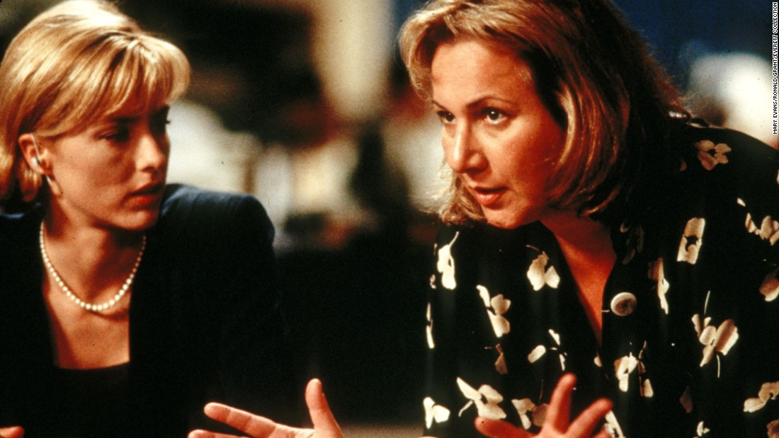 """Mimi Leder admits that the biggest challenge she's faced in her directing career is making feature films, but 1998's """"Deep Impact"""" (with Tea Leoni, left) was a box office success, earning $140 million at the box office. """"It asked questions that I think we ask ourselves,"""" Leder said."""