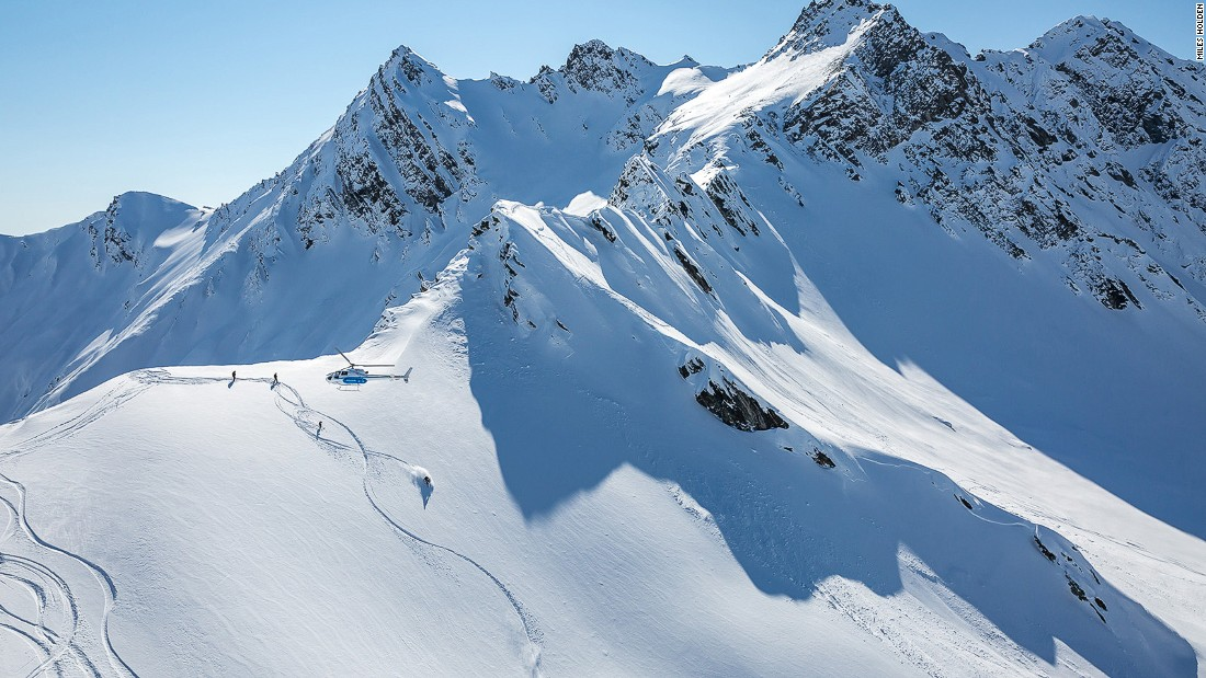 Southern Lakes Heli-Ski operates out of Queenstown and Wanaka from July to September, with access to 3,200 square miles across 11 different mountain ranges, including the Clark Glacier.