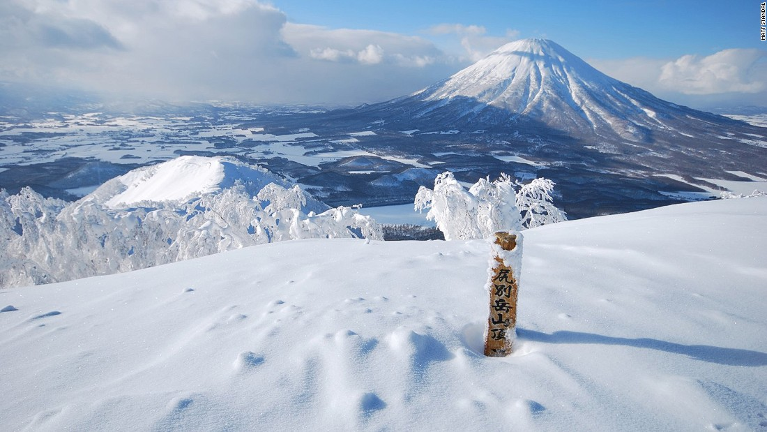 The island of Hokkaido receives up to 60 feet of snow annually. You can ski on dormant volcanoes and through perfectly spaced birch trees.