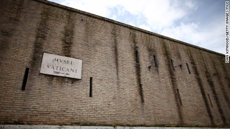 A view of a Vatican City wall. But not all of the sovereign state is surrounded by walls.