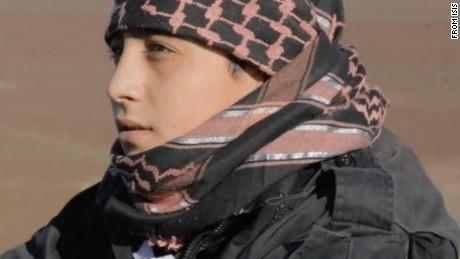 This ISIS propaganda photo shows child soldier Abu Imara al Omri before he blew himself up