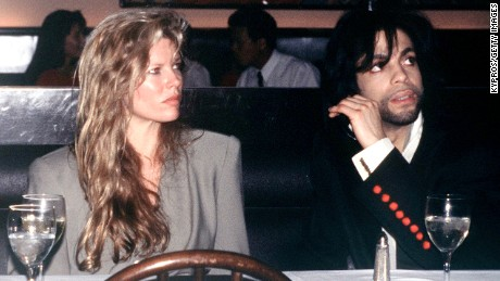 American film actress Kim Basinger with singer Prince, circa 1988. (Photo by Kypros/Getty Images)