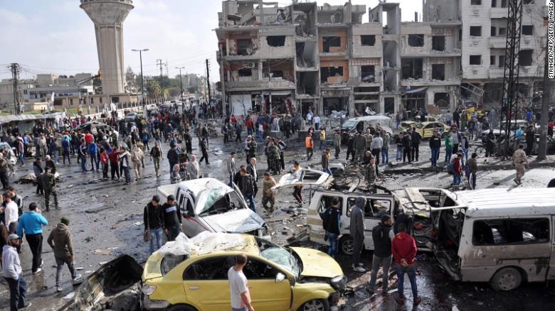 Сирия: десятки убитых после терактов в Хомсе и Дамаске