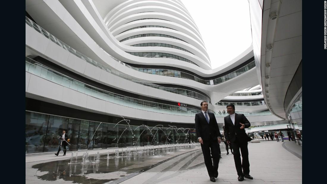 Zaha Hadid Architects also built the Galaxy SOHO building in Beijing.