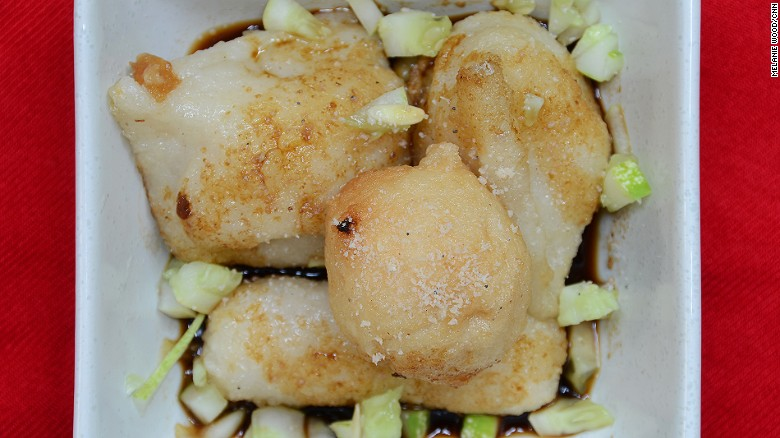 Douse it in vinegar, chili and sugar sauce, and the spongy dough balls stuffed with a chicken egg will get eaten.