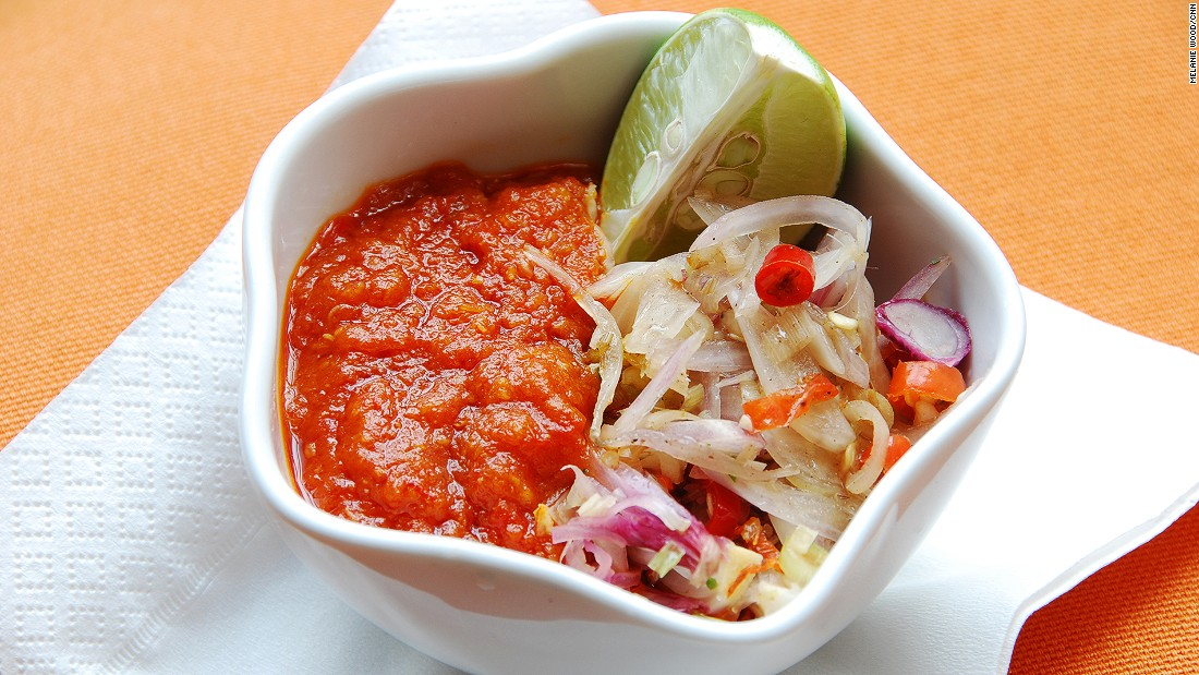 The king of condiments -- the chili-based sauce sambal is a staple at all Indonesian tables.