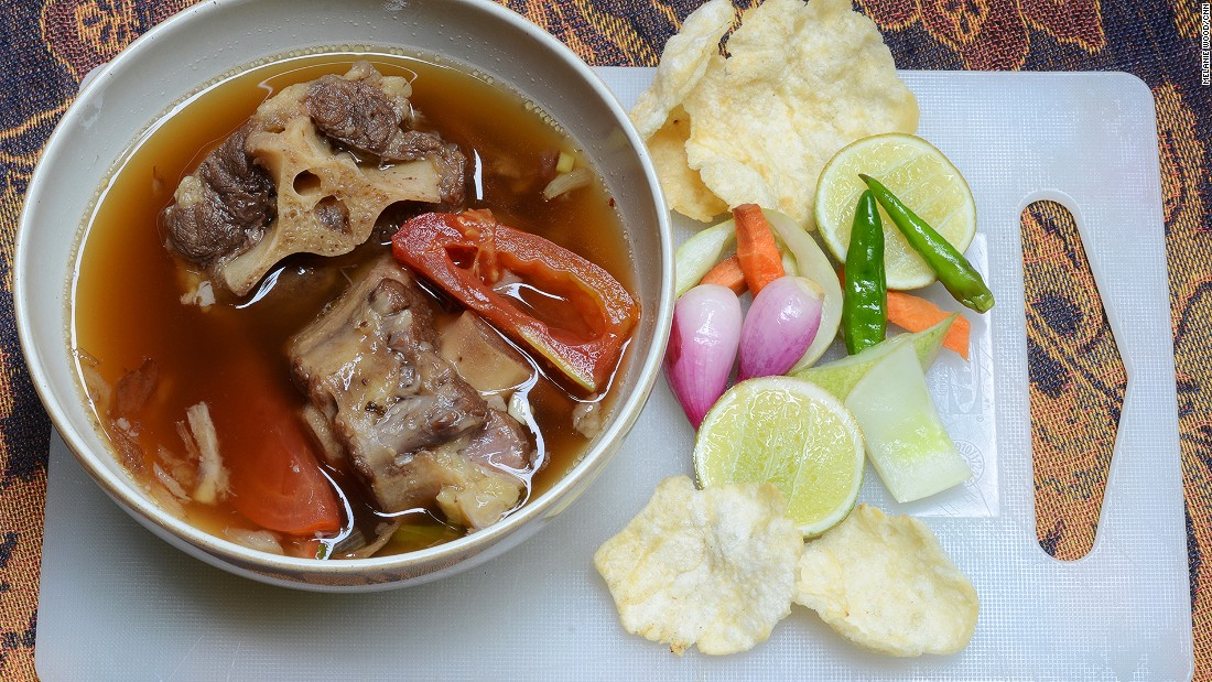 A little bit of Australia sometimes finds its way into a bowl of oxtail soup.