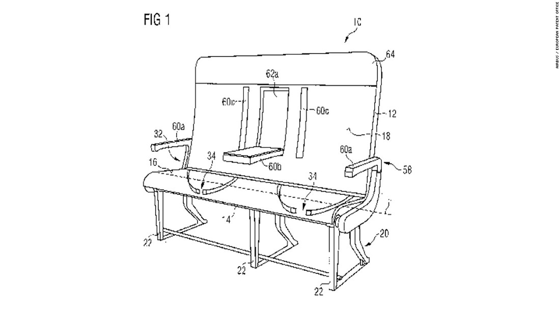 The Airbus patent is one of the more sensible new seating suggestions to be revealed in recent years. Read on for seven terrifying airline patents we're less keen to to see in action.
