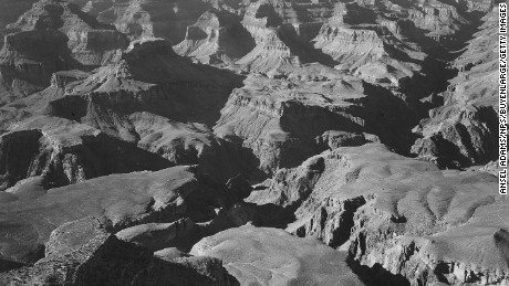 View of a canyon and ravine, in Grand Canyon National Park, Arizona, 1942. (Photo by Ansel Adams/NPS/Buyenlarge/Getty Images)