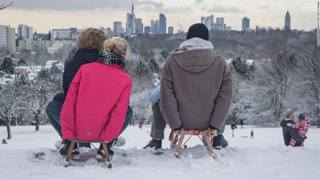 Frankfurt works hard -- it's Germany's financial powerhouse -- but it also plays hard. The city is known for its lively cultural scene, and knows how to have fun when it snows, apparently.