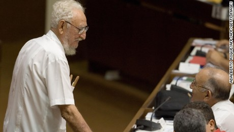 "HAVANA, CUBA: The eldest of Fidel Castro's brothers Ramon ""Mongo"" Castro, 83, attends the 9th Session of Cuba's National Assembly, 29 June 2007, in Havana.         AFP PHOTO/Adalberto ROQUE (Photo credit should read ADALBERTO ROQUE/AFP/Getty Images)"