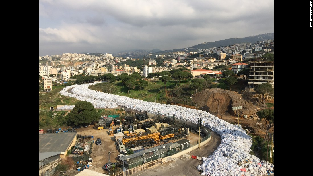 "LEBANON: Beirut's river of garbage... The country cancelled plans to export its trash to Russia last week, sending Beirut's six-month garbage crisis back to square one with rubbish piling up in the streets, riverbeds and countryside. Photo by CNN's Mohammed Tawfeeq <a href=""http://instagram.com/mtawfeeq"" target=""_blank"">@mtawfeeq</a>, February 24."