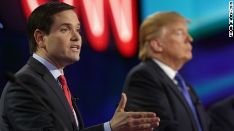 Trump and Rubio trade nasty insults for hours