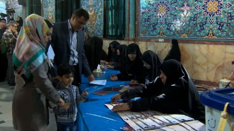 High voter turnout in Iran's elections