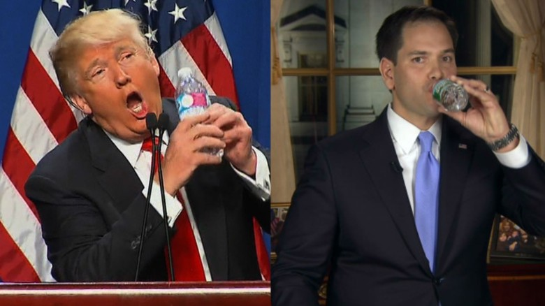 Trump mocks Rubio's SOTU water incident