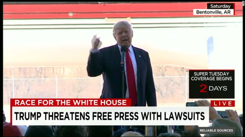 What Trump's 'libel law' warning really means