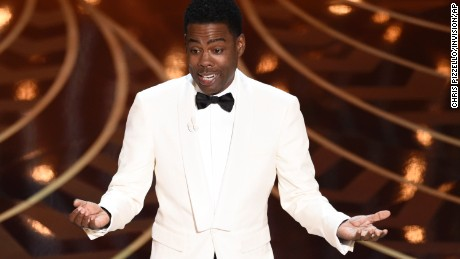 Host Chris Rock speaks at the Oscars on Sunday at the Dolby Theatre in Los Angeles.