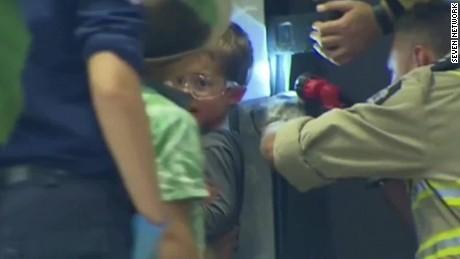 boys arm gets stuck in vending machine seven network lklv_00001002