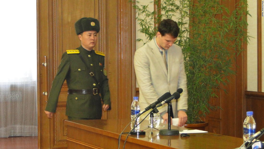 Otto Frederick Warmbier allegedly confessed to crimes against the DPRK in a press conference held on Monday morning February 29, 2016 in Pyongyang. It is not known if Warmbier was forced by the DPRK to speak, or whether he was coerced.