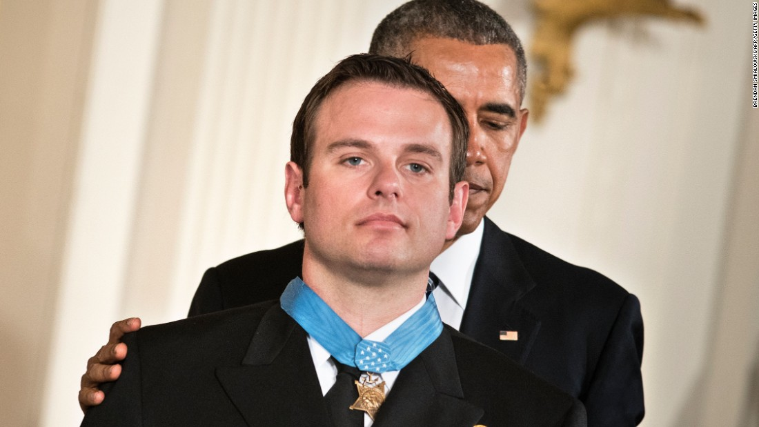 U.S. President Barack Obama presents Navy SEAL Edward Byers with the Medal of Honor during a ceremony at the White House on Monday, February 29. Byers received the medal for his role in rescuing an American civilian being held hostage by Taliban insurgents in Afghanistan. Click through to see other Afghanistan veterans who have received the Medal of Honor, the nation's highest award for valor in combat.