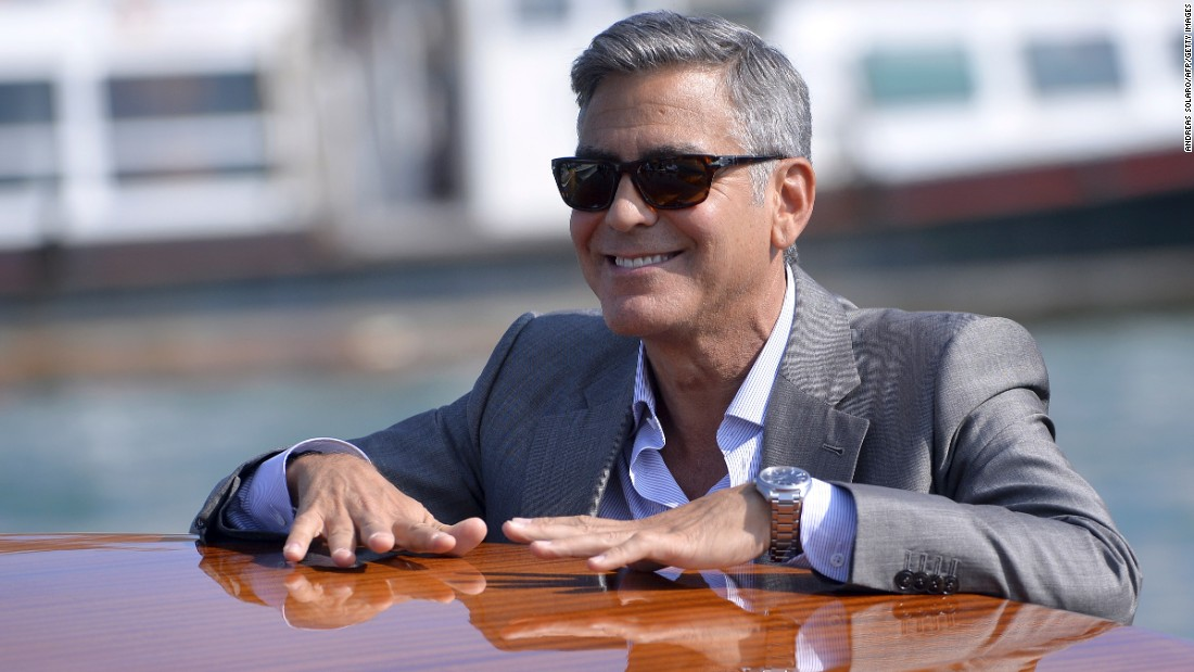 """One signature of George Clooney's look is his salt-and-pepper hair. In a recent interview with <a href=""""http://www.bbc.co.uk/programmes/p02ryvl0"""" target=""""_blank"""">BBC Radio</a>, Clooney said he will never dye his hair to fight off the appearance of aging. Click through our gallery to see more famously gray-haired celebrities."""