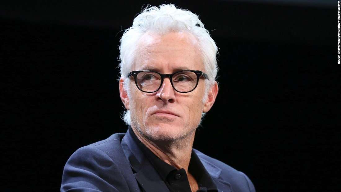 """Actor John Slattery, best known as silver fox Roger Sterling on AMC's """"Mad Men,"""" went prematurely gray in his 20s."""
