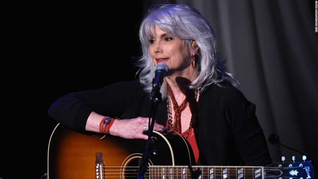 """Singer Emmylou Harris, 68, has been asked about her naturally gray hair many times over the years. During an <a href=""""http://www.nytimes.com/2013/03/22/booming/a-full-circle-for-emmylou-harris.html?pagewanted=all&_r=0"""" target=""""_blank"""">interview with The New York Times</a> in 2013, she offered this advice: """"Women should do whatever makes them feel good, but I do wish that we would accept our aging selves."""""""