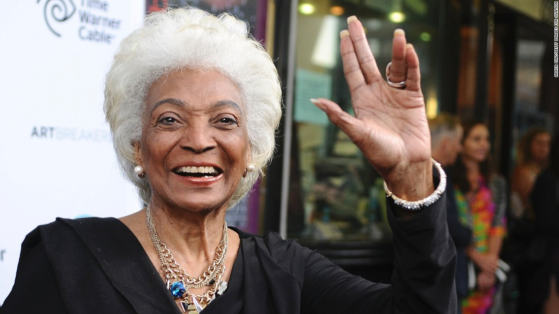 """Nichelle Nichols portrayed Lt. Uhura in the original """"Star Trek"""" TV series and films. Now 83, she's keeping her silver-gray hair in recent roles."""