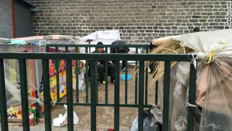 Several petitioners camped outside of China's state petition office on February 11, 2016. A week later, when CNN revisited the site, the shelter disappeared.