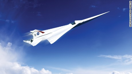 This is an artist's concept of a possible Low Boom Flight Demonstration Quiet Supersonic Transport (QueSST) X-plane design. The award of a preliminary design contract is the first step towards the possible return of supersonic passenger travel -- but this time quieter and more affordable.
