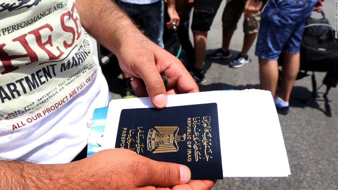 At 102nd place, Iraqi passport holders are only able to visit 30 countries without a visa.