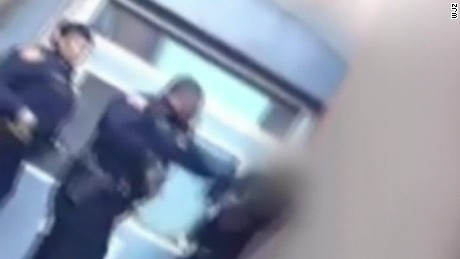 Video shows Baltimore schools cop assault student