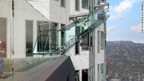 The U.S. Bank Tower in Los Angeles now has an outdoor glass slide to take visitors from the 70th floor to the 69th.
